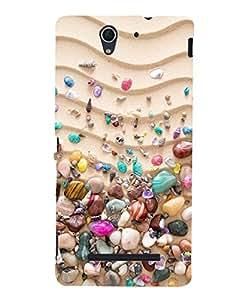 Citydreamz Stones\Pebbles Hard Polycarbonate Designer Back Case Cover For Sony Xperia C3