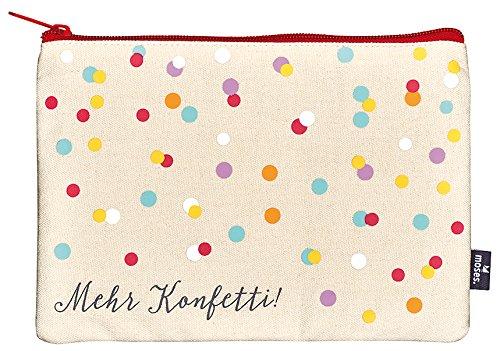 moses. Happy Me Täschchen Konfetti Kosmetiktäschchen, 22 cm, Mehrfarbig