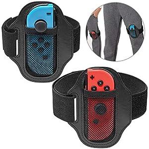 FYOUNG 2-Stück Einstellbare Elastische Band Gurte für Ring Fit Adventure Nintendo Switch, Verstellbare Elastische…