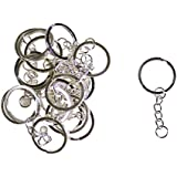 Paquete de 20 aros para llavero con aro distributor y cadena, ideal para artesanías, por Kurtzy TM