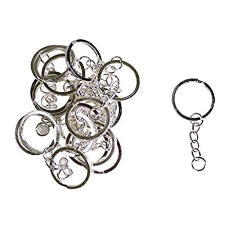 KurtzyTM 100 Pack Key Ring Keychains With Split Rings And Jump Rings Best For Crafts DIY