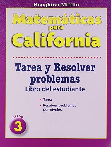 Math, Grade 3 Homework and Problem Solving Book: Houghton Mifflin Math Spanish California par Hmh