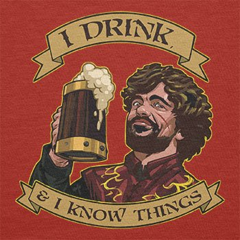 TEXLAB - I drink, and I know things - Herren Langarm T-Shirt Rot