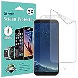 JETech Film de Protection d'écran pour Samsung Galaxy S8, TPE HD Clair, Lot de 2
