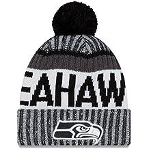 New Era - Seattle Seahawks - Beanie - Nfl 17 Sport Knit Cuff - Black / White