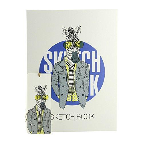 Debon 128Blatt/256Seiten Gewinde Spiralgebundenes Skizzenbuch, Hardcover B5Sketch Pad für...