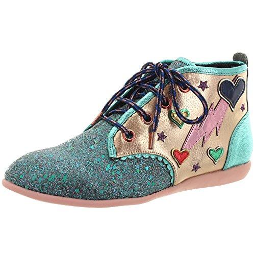 Irregular Choice Lightening Love, Zapatos de Tacón con Punta Cerrada para Mujer, Rosa (Pink a), 38 EU