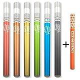 Cigarette Électronique Ezee Fun - Essayez 7 parfums différents - Sans Nicotine ni Tabac | E Shisha Jetable | 1 ml e liquide évaporateur | Vaporisateur | Paquet de 7