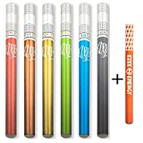 Ezee Fun Einweg E-Zigarette | 7 Verschiedene Geschmacks | Nikotinfrei vape pen | Elektronische Verdampfer | e Shisha mit ca. 400 Züge | 7 Stück