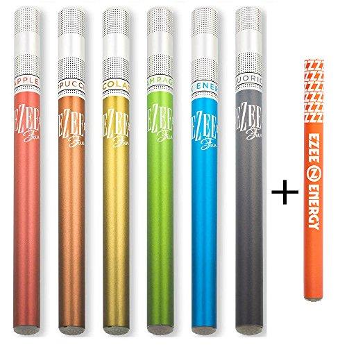 Ezee Fun Einweg E-Zigarette 7 Verschiedene Geschmacks Nikotinfrei Elektronische Verdampfer bietet etwa 400 Züge e Shisha 7 Stück