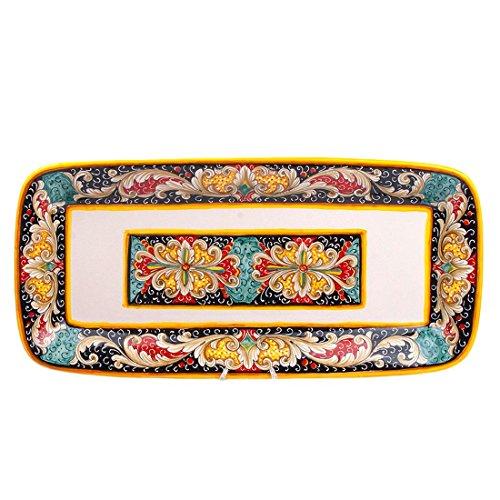 MICHELANGELO, Handgefertigte Keramik, Italien - Fach, Wand oder Tisch, DN Dekoration, in Keramik 54x26 H5 cm (ROT)