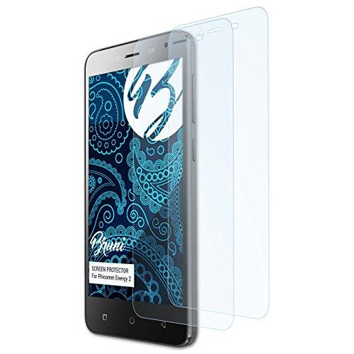 Bruni Schutzfolie kompatibel mit Phicomm Energy 2 Folie, glasklare Bildschirmschutzfolie (2X)