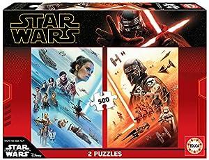 Educa Borrás- 2 x 500 Star Wars EP. IX Puzzle, Color Variado, Piezas (18361)