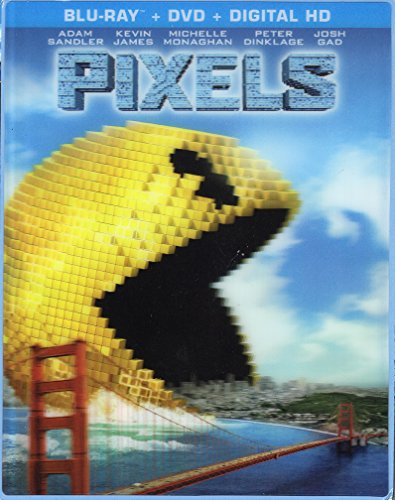 Pixels: Limited Edition Exclusive Lenticular Cover (Pac-Man) [Blu-Ray, DVD + Digital HD]