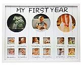 Baby Bilderrahmen Mein erstes Jahr Fotorahmen aus Holz