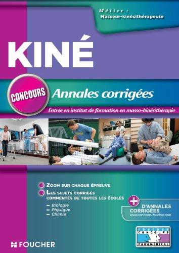 Annales corriges concours d'entre masseur-Kinsithrapeute