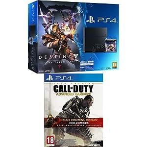Pack Pack PS4 500 Go + Destiny : Le Roi Des Corrompus + Call of Duty : Advanced Warfare - édition gold
