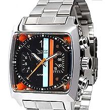 Reloj de muñeca automático para hombres, moderno y casual, con pulsera de acero inoxidable