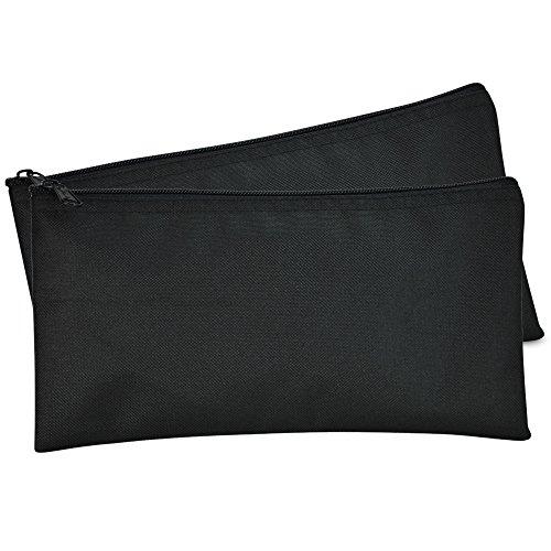 dalix Bank Staubbeutel Geld Beutel Ablagerung Utility Reißverschluss Münze Tasche Poly Tuch 2Stück Größe S schwarz
