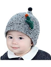 Hosaire Enfants Hiver Chapeau Bébé Tricoté Bonnet Mignon Motif de Cactus  Chaud Crochet Béret Casquette Bonnet 7d46ca1fce2