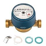 Wasserzähler QN 1,5 Kaltwasser, BL 110 mm 1/2 Zoll Durchfluss - Anschluss 3/4 Zoll  Beste Messgenauigkeit