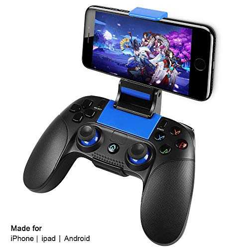Wireless Gamecontroller,PowerLead Drahtloses Handy Gamepad,Tragbarer Joystick-Griff für mobile Spiele für Android IOS