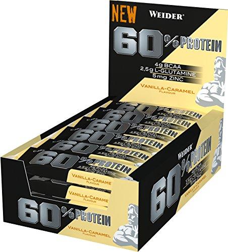 Karamell-protein (Weider 60% Protein Bar, Vanille-Karamell, 1er Pack (24x 45g Riegel))