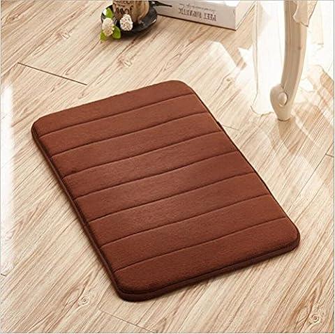 FFJTS Brown Velluto Corallo mémoire antidérapant tapis moelleux moelleux confortable moderne de qualité supérieure simple chambre à coucher salon porte tapis , 80*160cm