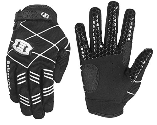 Seibertron B-A-R PRO 2.0 Signature Baseball/Softball Schlagmann Batting Handschuhe Gloves Super Grip Finger Fit for Jugend/Kinder Black M