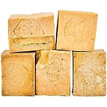 """""""Aleppo"""" Seifen 5 Stück lose im Bruch mit Schönheitsfehlern – vegan handgemacht Naturseife Seife ca. 900-950 Gramm je Paket, gemischte Sortierung (MIX)"""