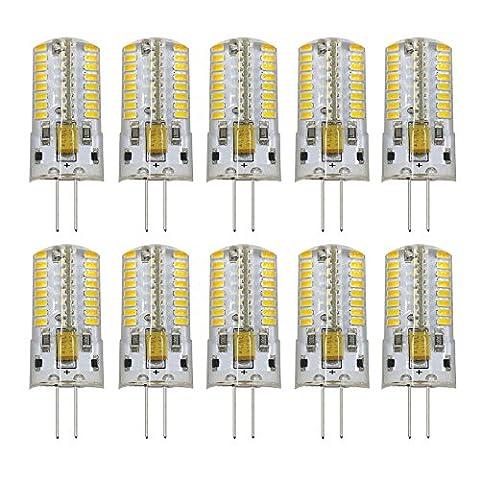 Dayker G4 Ampoules LED AC DC 12V 4W (Equivalent à lampe halogène 35W) Blanc Chaud 64 SMD3014 LED Lumière 330LM Lampe 360 Degrés D'angle De Faisceau