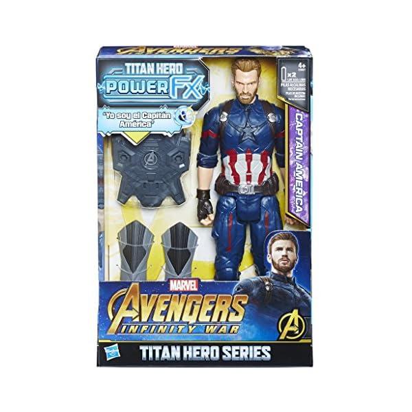 Marvel- Titan y Mochila Power Fx Capitán América (Hasbro E0607105) 2