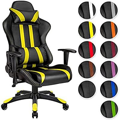 TecTake Silla de oficina ergonomica racing gaming con soporte lumbar - disponible en diferentes colores -