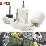 Cvian Auto-Polierpad-Set, hochschaumige Reinigungspads für Autos, Felgen-Set für Polierer, 5PC