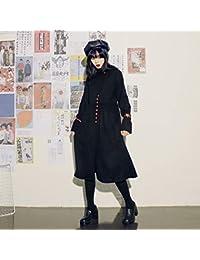Wyj Vestido Adulto Adolescente Negro Delgado Vestido Bordado diseño único Falda Larga Falsa Dos Piezas M