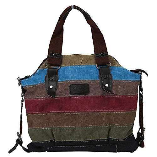 Sac a main - TOOGOO(R) Mode femmes retro sac a bandouliere colore sac en toile Tote sac de Messager Sac a main pour dames