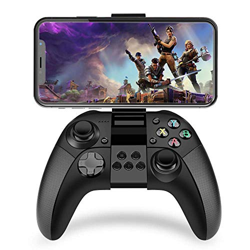 Game-Controller Wireless Bluetooth Gamepad mit L3 R3 Kompatibilität Joystick Joypad mit Klemmhalterung für iOS/Android/iPhone/iPad/PS4 Remote Play (schwarz)