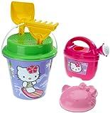 Simba 107113032 - Hello Kitty, secchiello da spiaggia con accessori, 6 pezzi by Simba Toys Italia S.p.A.