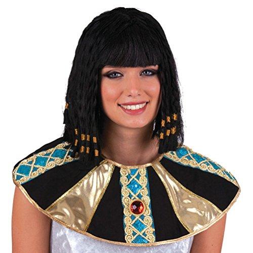 ostüm Perücke Cleopatra Zubehör Fasching Karneval (Schwarze Cleopatra Perücke)