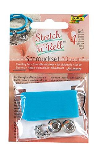 folia 93105 - Armbandbastelset Strech und Roll - Set Ocean, blau