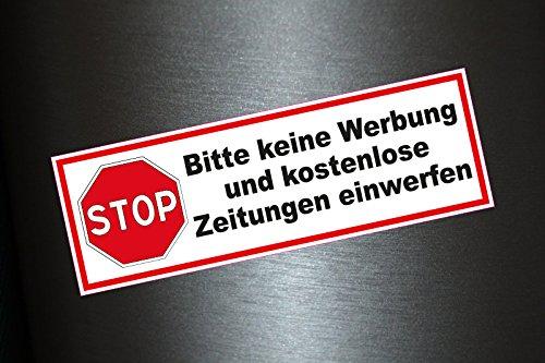 Preisvergleich Produktbild 3 x Aufkleber Bitte keine Werbung und kostenlose Zeitungen einwerfen Briefkasten