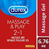 Durex Massage and Play Sensual 2 in 1 Massage Gel & Intimate Lubricant with Alluring Ylang Ylang : Size 6.76 Fl Oz / 200ml by Durex