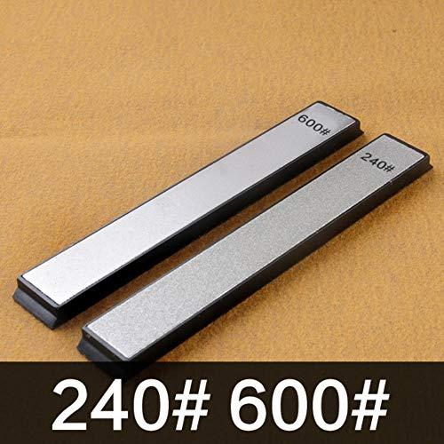 Sxcyu 240 400 600 1000 grit Diamond Knife Sharpener Angle Sharpening Stone Whetstone Professional Knife Sharpener Tool bar,240 600 grit