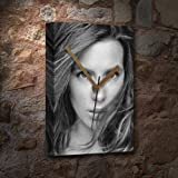 KATE BECKINSALE - Canvas Clock (A4 - Signed by the Artist) #js001