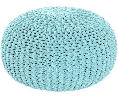 Sitzhocker Sitzpuff Bodenkissen Ø 50 cm, 55 cm oder 80 cm ver. Farben Baumwolle (Ø 55 cm, türkis)