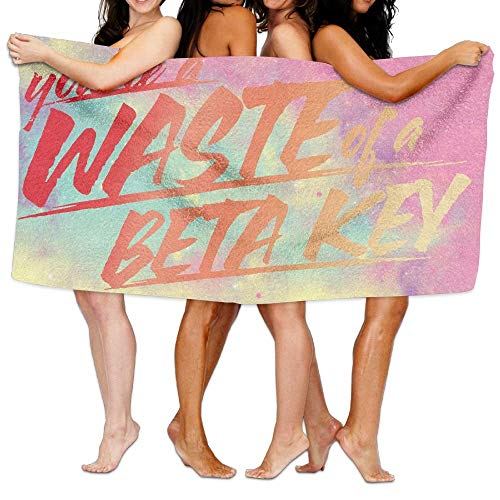 Hats New Beach Towel Waste of A Beta Key 80 cm X 130 cm Soft Lightweight Absorbent for Bath Swimming Pool Yoga Pilates Picnic Blanket Towels (Beta-key)