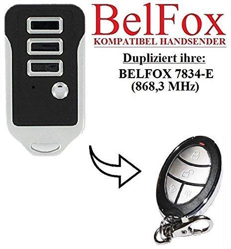 Preisvergleich Produktbild BELFOX 7834 - E Kompatibel Handsender, Ersatz sender, 868.3Mhz fixed code, Klone