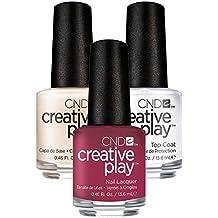 CND Creative Play Berried Secret Nr. 467 13,5 ml mit Creative Play Base Coat 13,5 ml und Top Coat 13,5 ml, 1er Pack (1 x 0.041 l)