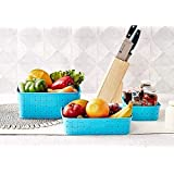 Floraware Smart Baskets for Storage Set of 3 Pieces, Blue