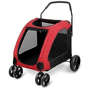 amzdeal hundewagen hundebuggy buggy und wagen f r hunde. Black Bedroom Furniture Sets. Home Design Ideas